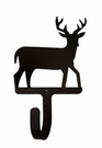 Small Decorative Wrought Iron Wall Hook - Deer