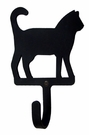 Small Decorative Wrought Iron Wall Hook - Cat