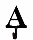 Small Decorative Wrought Iron Wall Hook - Letter A