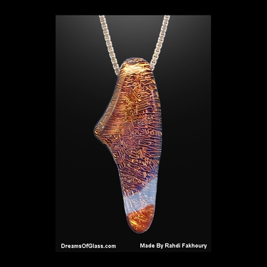 """Ambition"" HandMade Glass Pendant"