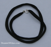 Black Flat Silk Necklace