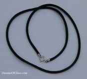 Black Rayon Satin Necklace