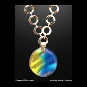 """Rainbow on the Horizon"" Silver & Glass Necklace"