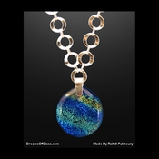 """Untouched Waters"" Silver & Glass Necklace"