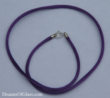 Purple Rayon Satin Necklace