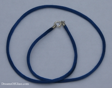 Blue Rayon Satin Necklace