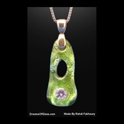 """Emerald Green Boa""  Replica Gemstone Pendant"
