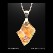 """Golden Chaos""  Replica Gemstone Pendant"