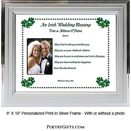 Wedding Gifts For Groom Ireland : Irish Wedding Blessing for Bride & Groom