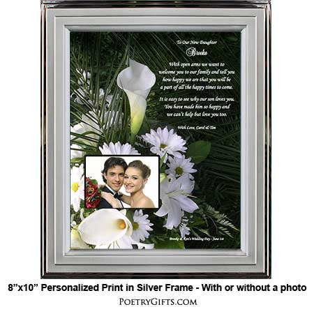 Wedding Gifts For Your Daughter : daughter in law wedding gift item 02 722 722 honor your daughter in ...