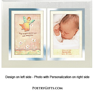 Baby Gift - Angel Personalized Frame