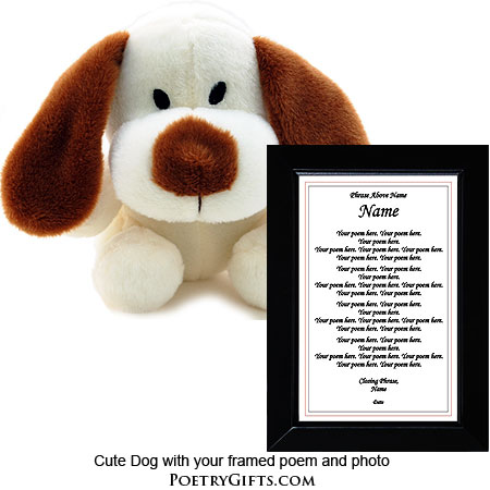 Puppy & Frame - Print Your Poem
