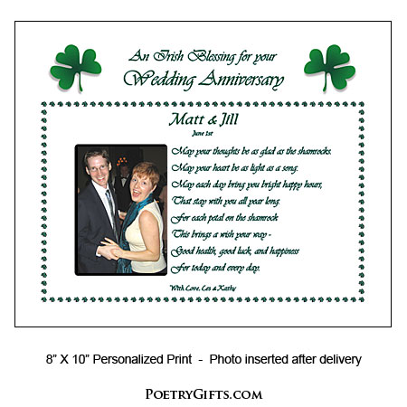 Wedding Gift For Brother Ireland : Home > Anniversary Gifts & Poems > Wedding Anniversary Irish Blessing