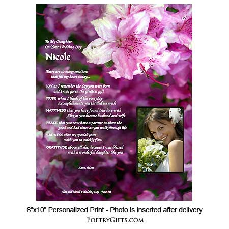 Wedding Gifts For Your Daughter : ... > Bridal & Wedding Gifts > Wedding Gifts Personalized for Daughter