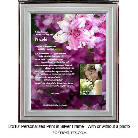 Wedding Gift Father Daughter : Wedding Gifts Personalized for Daughter