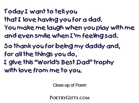 Daddy Poem Gift From The Kids
