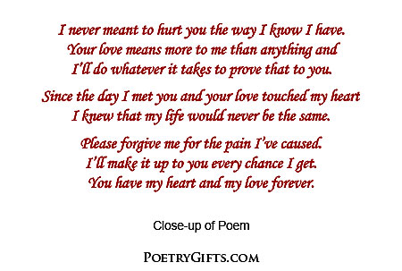 ''I'm Sorry'' Poem - Touches the Heart