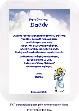 Daddy Christmas Gifts - Little Angel
