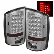 02-06 Dodge Ram 1500 / 2500 / 3500 Euro Style Bright LED Tail Lights - Chrome By Spyder