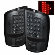 02-06 Dodge Ram 1500 / 2500 / 3500 Euro Style Bright LED Tail Lights - Smoked By Spyder