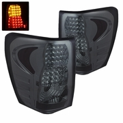 99-04 Jeep Grand Cherokee Euro Style Bright LED Tail Lights - Smoked By Spyder