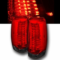 07-13 Chevy Avalanche Euro Style LED Tail Lights - Red / Smoked ALT-YD-CAV07-LED-RS By Spyder