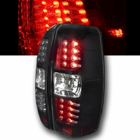 07-13 Chevy Avalanche Euro Style LED Tail Lights - Black
