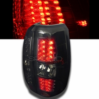 07-13 Chevy Avalanche Euro Style LED Tail Lights - Smoked