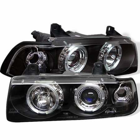 Bmw E36 3 Series 1992 1998 2dr 1pc Led Projector Headlights Black