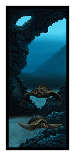 """Turtle Hideaway"" by Ernest D. Young Jr. 20x48"