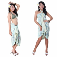 High-End Pertama Floral Sarong in Cream