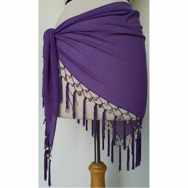 Sheer Sarong in Purple