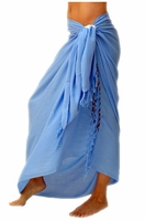 Solid Colored Sarong in Light Blue