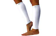 Zensah Compression Leg Sleeves in White