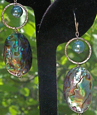 Abalone Silver and Pearls
