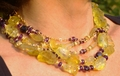 Lemon Quartz & Amethyst three necklace set (short view)