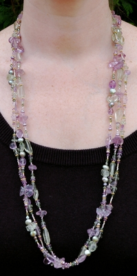 Pink and Green Amethyst Combo