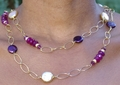Plum Chalcedony and Pearl Symphony