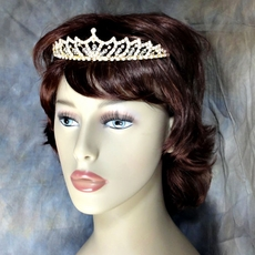 GOLDIE LOCKS RHINESTONE TIARA