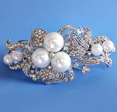 CENTER STAGE RHINESTONE PEARL HAIRCLIP - TEMP SOLD OUT