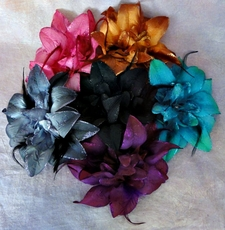 BURST SILK FLOWER HAIRCLIP - PIN