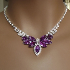PURPLE HAZE RHINESTONE JEWELRY SET