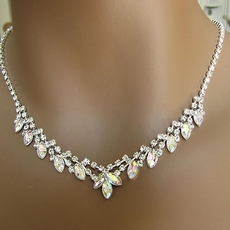 PERFECTLY POISED RHINESTONE NECKLACE JEWELRY SET