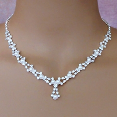 DONNA'S CHOICE WHITE FAUX PEARL WEDDING SET