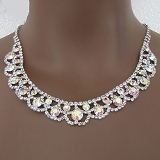 ULTRA RHINESTONE GLAMOUR JEWELRY NECKLACE AND EARRINGS SET - TEMP SOLD OUT