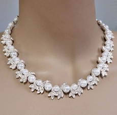 IRENE FAUX PEARL WEDDING JEWELRY SET<BR>TEMP SOLD OUT