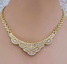 GLITTER OF GOLD RHINESTONE JEWELRY SET - ONE REMAINING SET