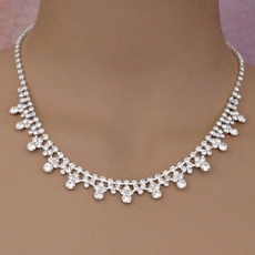 JET SET RHINESTONE NECKLACE SET