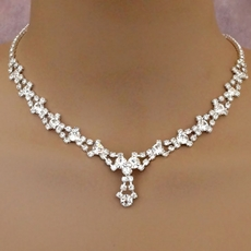 DELIGHT SILVER RHINESTONE SET