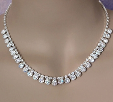 DEFINING MOMENT CLEAR RHINESTONE NECKLACE SET - TEMP SOLD OUT